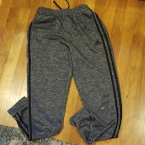 Gray and black Adidas joggers for boys